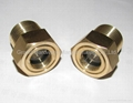 Hexagon head brass oil level sight glass for process pump
