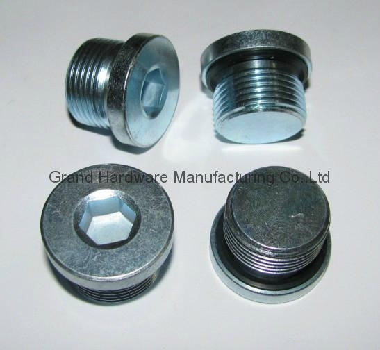 High pressure hydraulic hex sockets oil drain plugs china