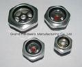 Hexagon head aluminum oil level indicator for air compressor