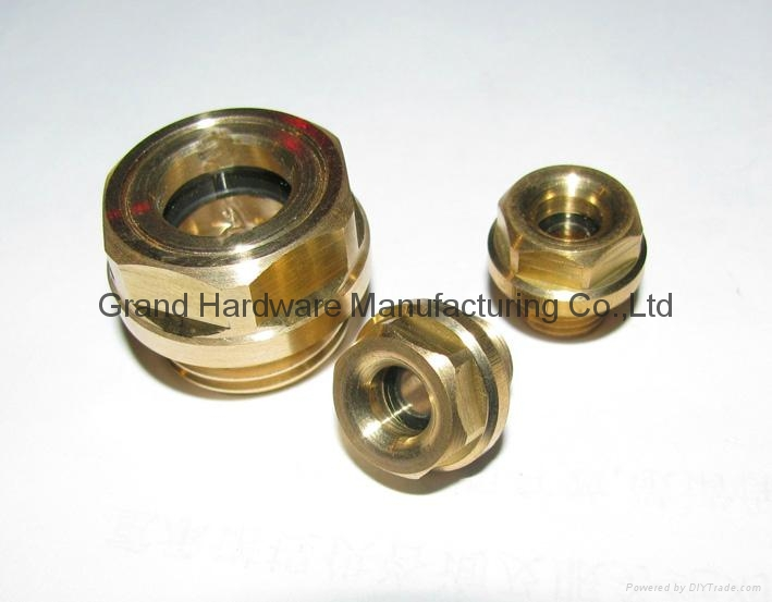 Metric brass oil level sight glass