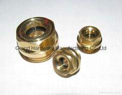 Metirc thread liquid level sight glass