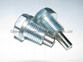 steel oil drain plug with magnet