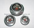 round aluminum oil sight glass