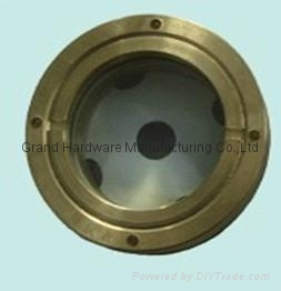 Round Brass oil sight glass for screw oil compressor