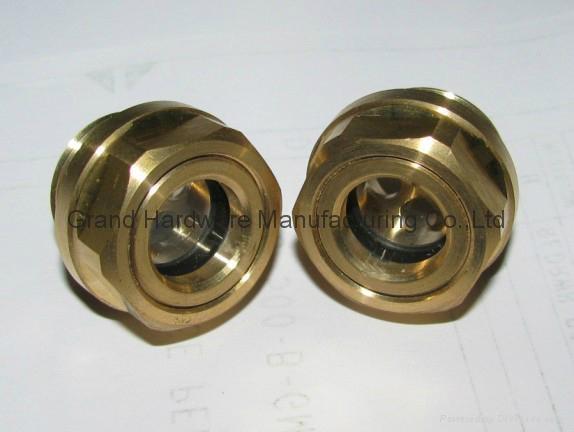 定制G3/4寸黄铜油位器液位器油位观察镜油窗GM-BG34 1