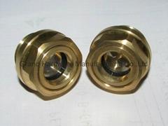 定制G3/4寸黄铜油位器液位器油位观察镜油窗GM-BG34
