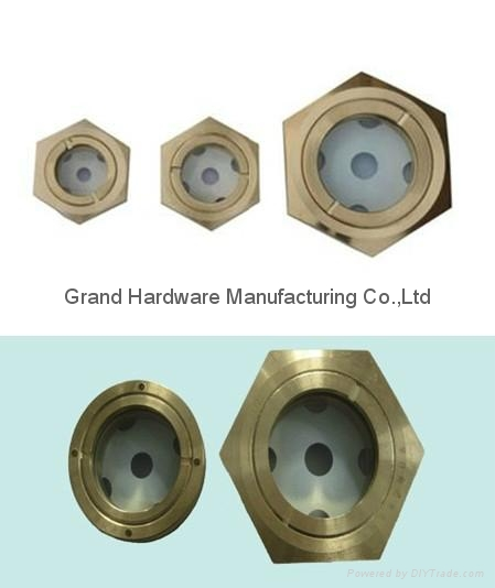 Brass Oil sight glass for pumps