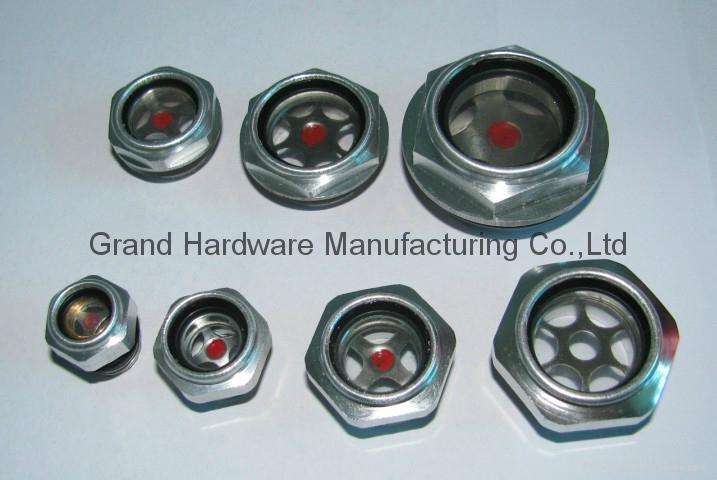 Metric thread Aluminum oil sight gauge window for air compressor