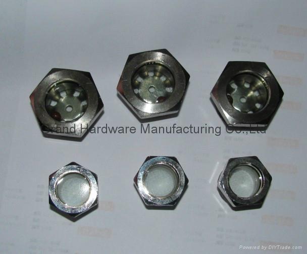 steel fused sight glass