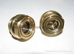 Industrial gear unit Brass oil level sight glass G1