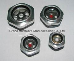 Aluminum oil level sight gauge