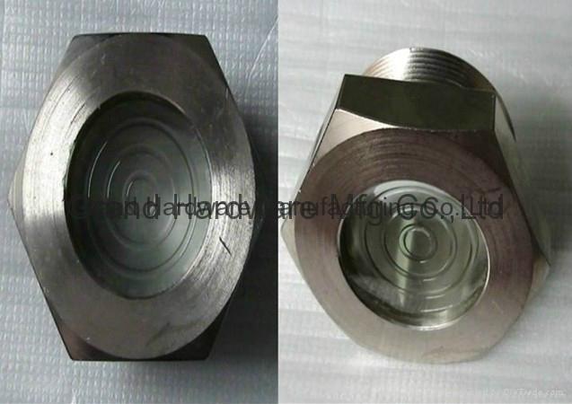 npt thread fused oil sight glass