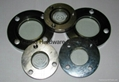 Flange oil sight glass