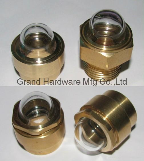 Npt domed shape oil sight glass china manufacturer