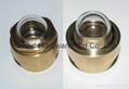 NPT 1/2 Domed shape Brass oil sight glass GM-HDN12 3