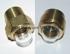 NPT 1/2 Domed shape Brass oil sight glass GM-HDN12