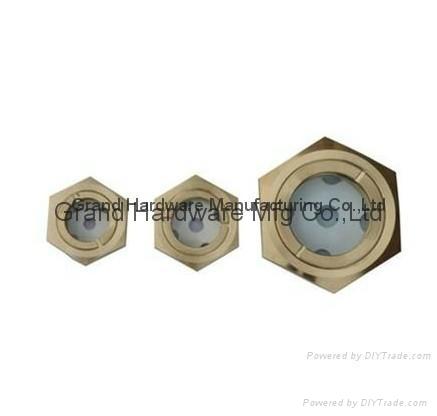 hex brass oil level sight indicators