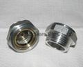 BSP 1 Inch oil level sight glass plugs indicator for screw air comressor 5