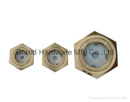 BSP 1 Inch oil level sight glass plugs indicator for screw air comressor 3
