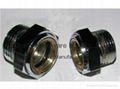 """Brass G1-1/2"""" Circular window sight glass with white planting 7"""