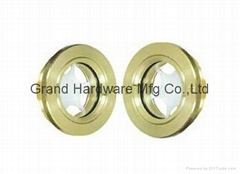 Brass Circular Oil sight glass