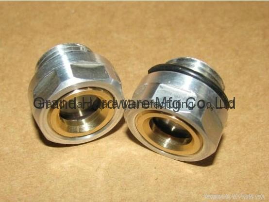BSP2寸英制螺纹圆形黄铜油镜油窗液位器油位器可定做 3
