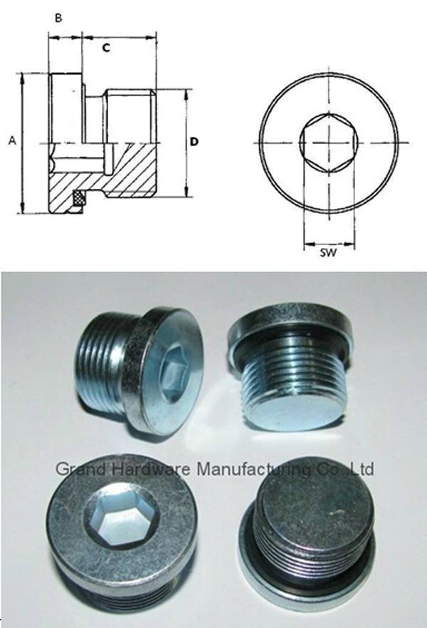 Sae Hex Socket Steel Plug Hydraulic Pipe Plug Hydraulic