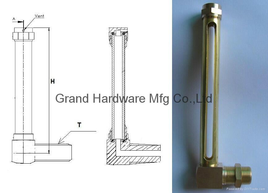 L形狀銅管油標油位器 4