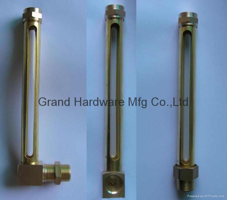 Brass Oil level gauge with glass tube(L Type) 7