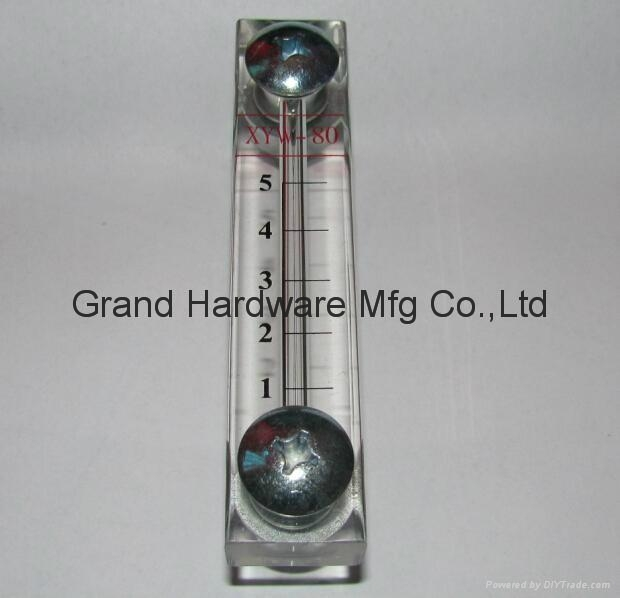 Hydraulic plastic oil level indicator