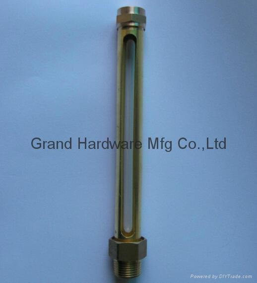 male thread brass tube oil level gauge NPT 1/4