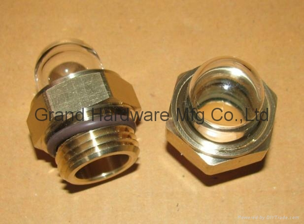 NPT 1/2 Domed shape Brass oil sight glass 5