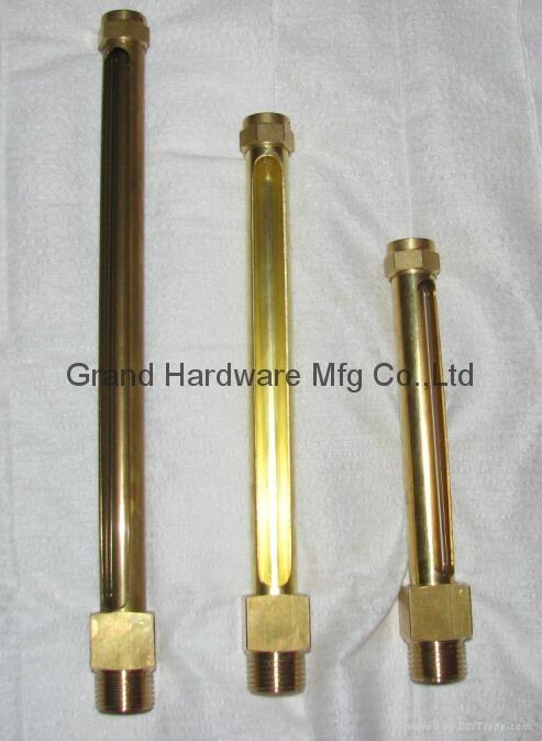 brass tubular oil level gauges NPT 1/2