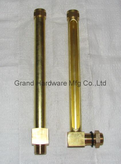 tubular brass oil level sight gauges NPT 1/4