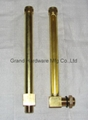 Brass Oil level gauge with glass tube(L Type) 10