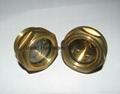BSP/NPT螺紋1寸黃銅油鏡油窗視窗觀察鏡油位器 5