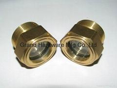 BSP/NPT螺紋1寸黃銅油鏡油窗視窗觀察鏡油位器