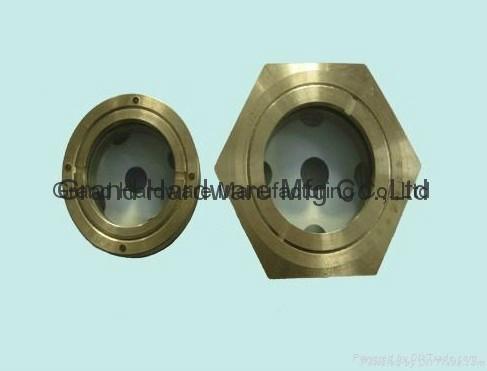BSP/NPT螺紋1寸黃銅油鏡油窗視窗觀察鏡油位器 8