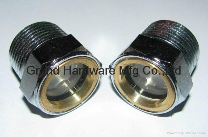 BSP/NPT螺紋1寸黃銅油鏡油窗視窗觀察鏡油位器 9
