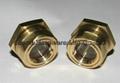 BSP/NPT螺紋1寸黃銅油鏡油窗視窗觀察鏡油位器 10