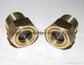 BSP/NPT螺紋1寸黃銅油鏡油窗視窗觀察鏡油位器 12