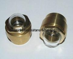 Domed oil level gauge sight glass