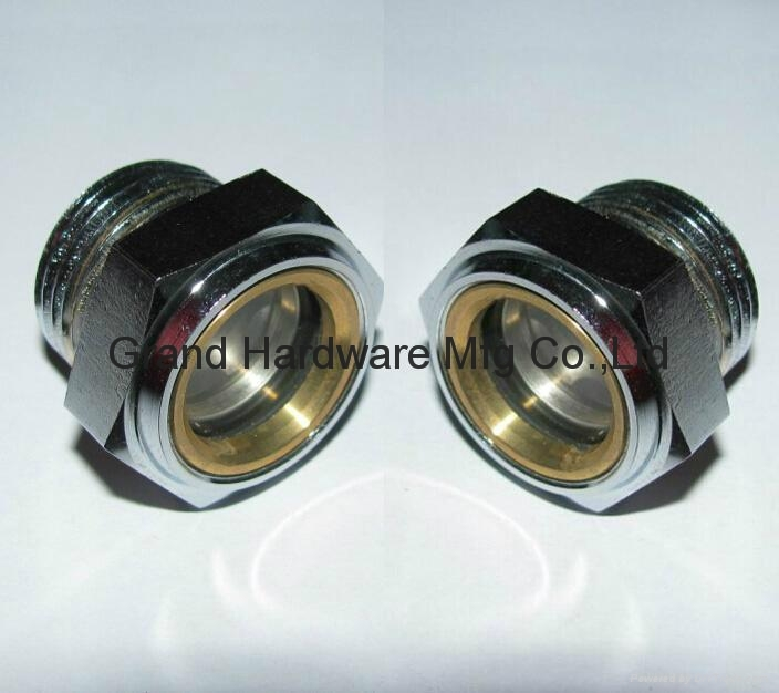 Metric steel oil level sight glass for sew gearboxes