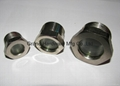 Steel nickel plated fused sight windows for refrigeration oil separator