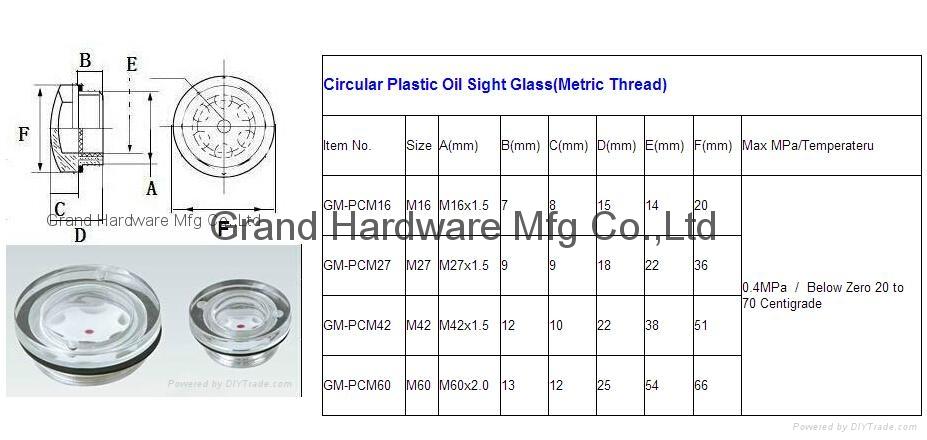 BSP2寸英制螺纹圆形黄铜油镜油窗液位器油位器可定做 20