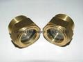 """G1"""" Brass oil level sight glass for motor"""
