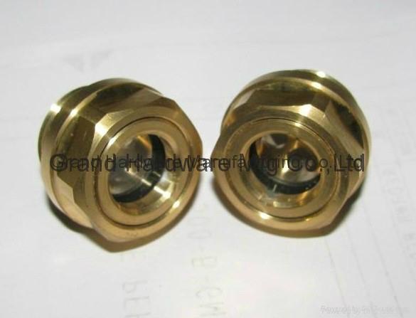 M22X1.5 Brass Oil sight glass for pump