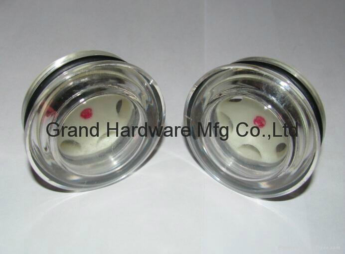 push fitting acrylic oil sight glass