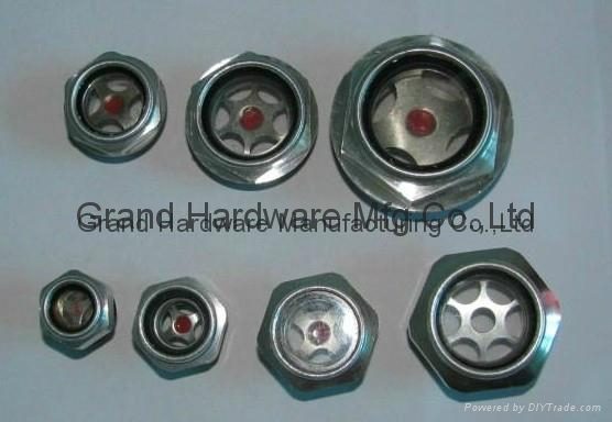 Hexagon Aluminum Oil Sight Glass