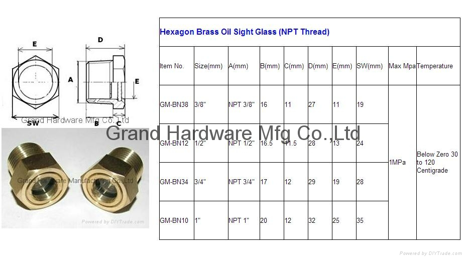 oil level sight glass 15